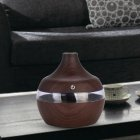 Wood Grain USB Water Drops Home Use Mute Mist Humidifier for Bedroom Living Room Dark wood grain
