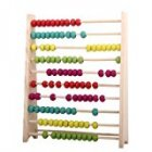 Wooden Abacus Educational Toy for Kids  Beads Color  Yellow  Green  Orange  Blue  Shocking Pink