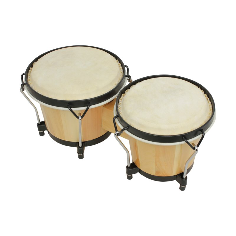 Wooden African Bongos Drum Percussion Musical Instruments Early Learning Educational Toys  Wood color