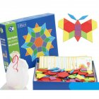 Wooden Animal Shape Tangram Puzzle Board Educational Toy for Kids Variety