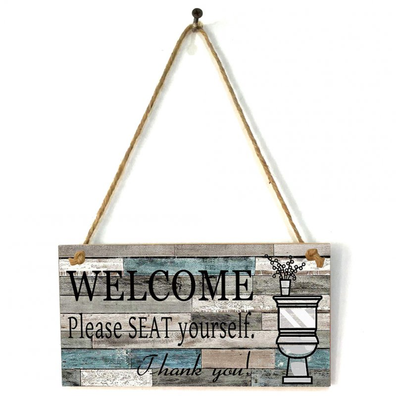 Wooden Art Printing Plaque Welcome Sign for Home Wall Decor JM01619