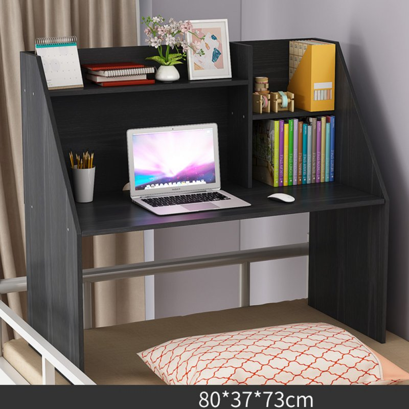Wooden Computer Table with Large Capacity Storage Function for Student Bed Study black