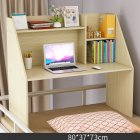 Wooden Computer Table with Large Capacity Storage Function for Student Bed Study Wood color