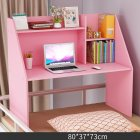 Wooden Computer Table with Large Capacity Storage Function for Student Bed Study Pink
