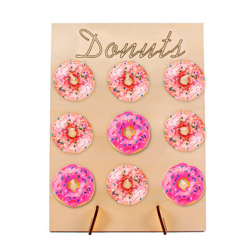 Wooden Donut Shape Wall Stand for Birthday Wedding Party Decoration JM01465