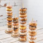 Wooden Donut Stand Doughnut Holder Bride Wedding Birthday Party Baby Shower Supplies JM01475