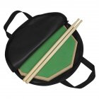 Wooden Dumb Drum Practice Training Drum Pad Set with Dumb Drum Bag Drum Stick green