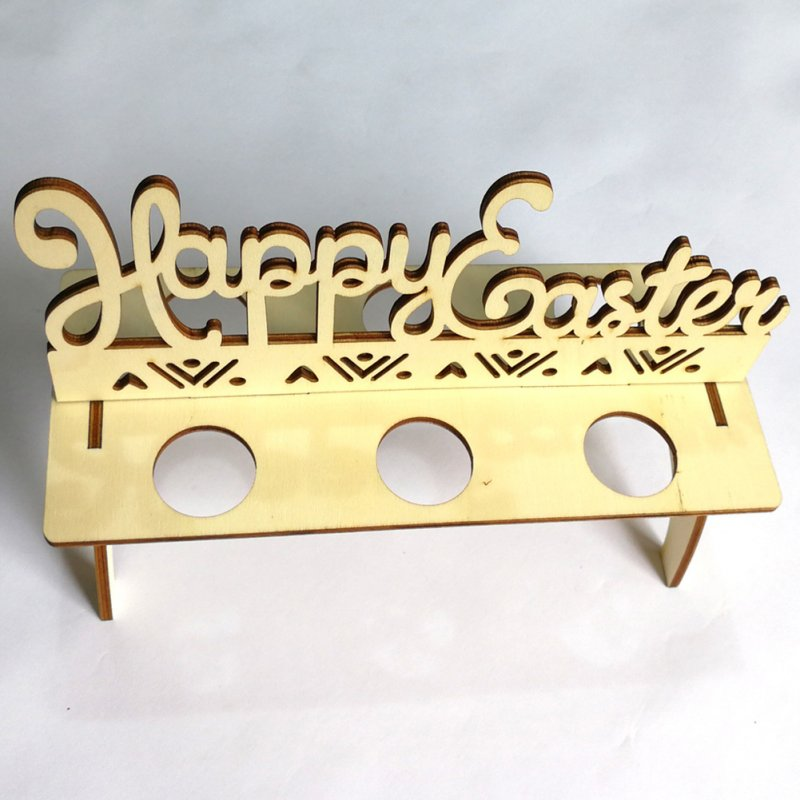 Wooden Easter Egg Shelves Easter Party Ornament DIY Egg Stand Rack Decoration for Home JM00330