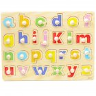 Wooden Jigsaw Puzzle Board Hand Grib Kid Early Educational Toy Hand grab board -081-lower letter puzzle