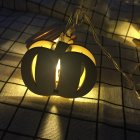 Wooden Pumpkin String Lights Halloween Holiday Light for Party Mall Wedding Living Room Party Decorative Warm White