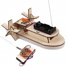 Wooden Remote Control Boat Toy for Student Science Technology Production Remote control boat