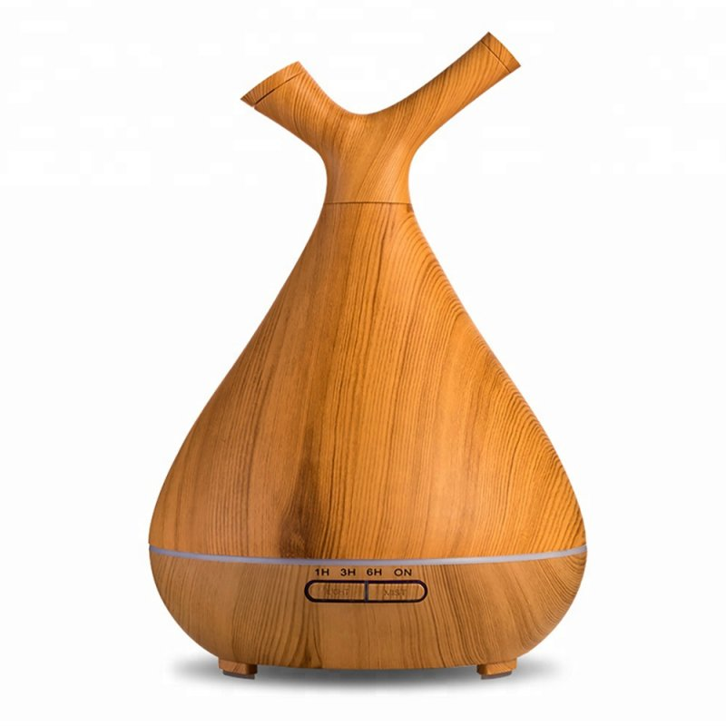 Wooden Style Branch Essential Oil Aroma Diffuser Air Freshener Humidifier light yellow_British regulatory