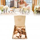 Wooden Wedding Signature Box for Guests Message Leaving Decoration Not Including Wood Chip  JM01633
