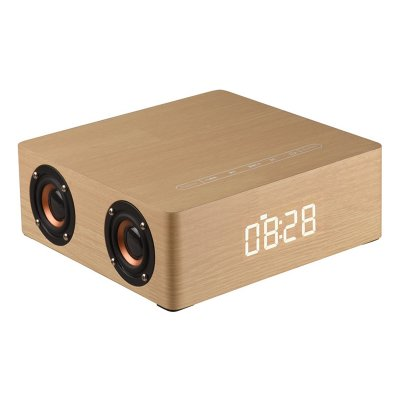 Wooden Bluetooth Alarm Clock Speaker