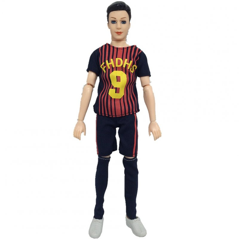 World Cup Male Footballer Clothes Doll Accessories Sports Socks + Pants+ Shirt for Ken Doll No. 9 (Tops + pants + socks)
