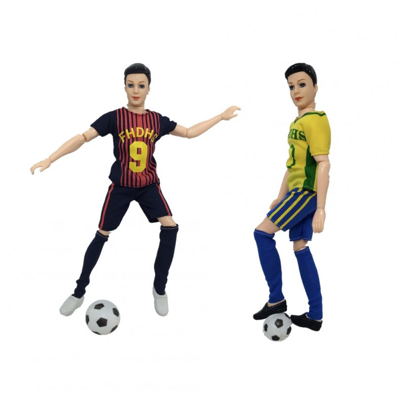 World Cup Male Footballer Clothes Doll Accessories Sports Socks + Pants+ Shirt for Ken Doll A football + a pair of shoes (random colors)