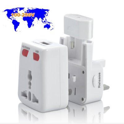 World Travel Adapter with USB