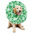 Wound Healing Collar Dogs Cats Medical Protection Neck Ring green_L