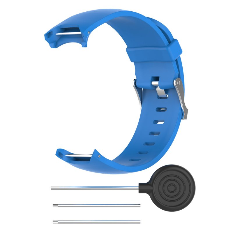 Wrist Band for Garmin Approach S3 GPS Watch Elegant Silicone Watch Strap with Tool Individualized Adjustment blue