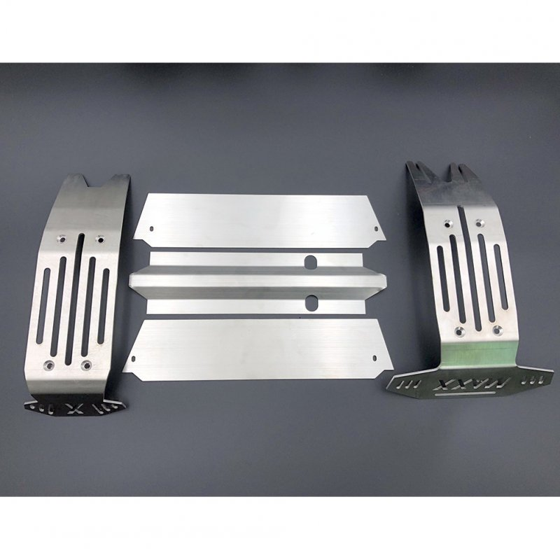 X-MAXX Stainless Steel Chassis Armor Front Rear Axle Protector Plate for 1/5 RC Truck Traxxas X-MAXX Xmaxx 6s 8s Upgrade Parts As shown_As shown