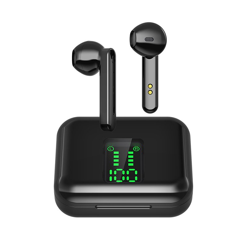 X15 TWS Bluetooth Headphone Wireless Earphone LED Display Bluetooth 5.0 Sport Headset Earbuds Airbud black