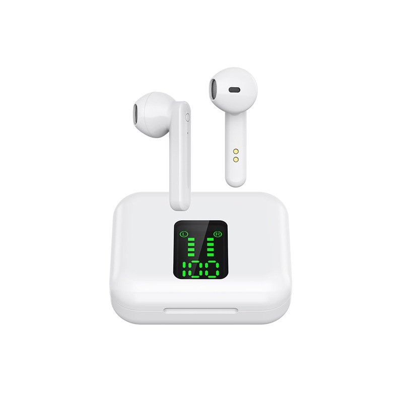 X15 TWS Bluetooth Headphone Wireless Earphone LED Display 5.0 Bluetooth Headset white