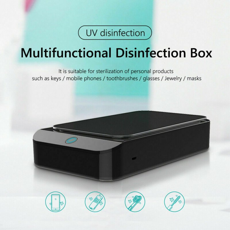 X2 UV Phone Wireless Charger Sterilizer Box Jewelry Phone Toothbrush Watch Cleaner Personal Sanitizer Disinfector black_X2