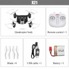 X21 Mini Pocket Drone Quacopter RC Helicopter 4CH 2.4G 6-aixs Gyro RC Drones Headless Mode Toys For Children Boys