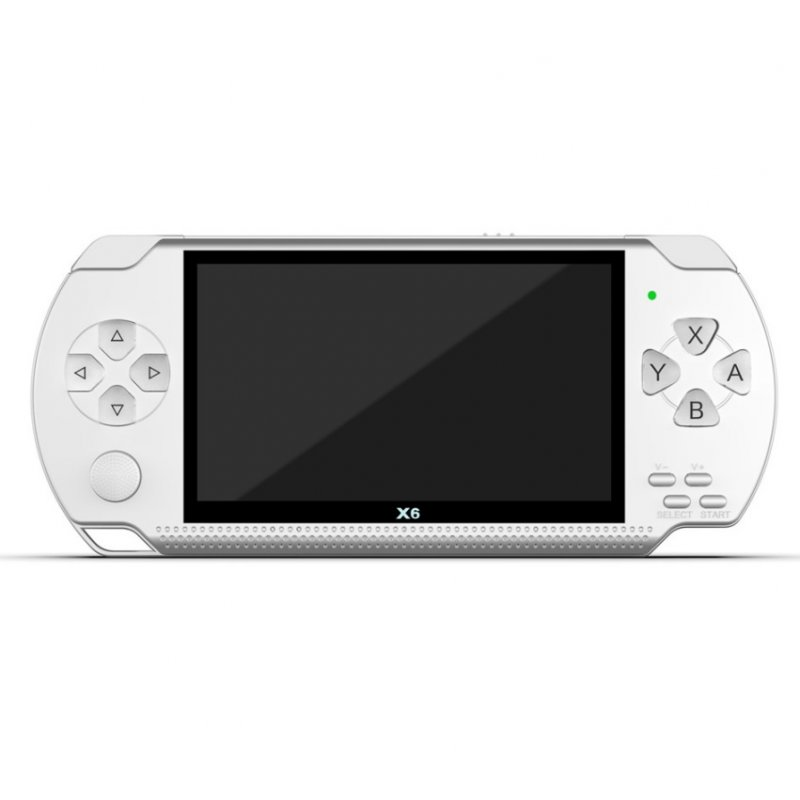 X6 Video Game Console Player 4.3 inch HD Screen Video Playback No Conversion Required White 8G