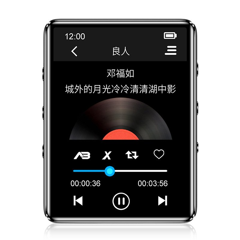 X60 MP3 Music Player 1.8inch TFT Full Touch Screen Portable Lossless Sound MP4 Player with FM Radio/Voice Recorder/E-Book/Video black