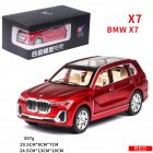 X7 High Simulation 1:24 SUV Sound Light Alloy Car Model Toy for Kids red