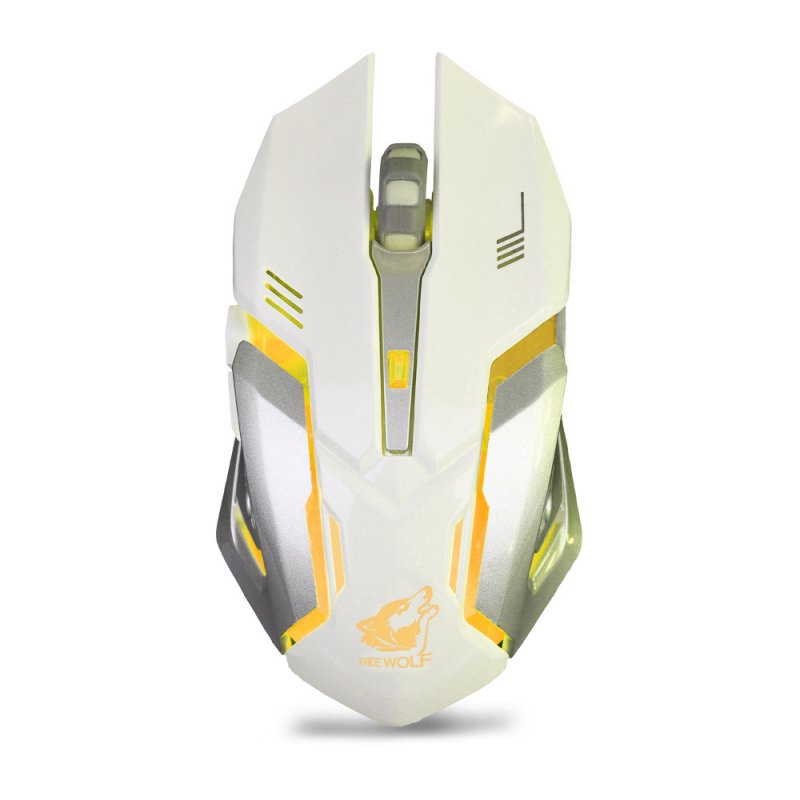 X7 Wireless Mouse Rechargeable Mute Light Gaming Optical Mouse for Computer Laptop white
