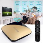 X88 PRO Android 9.0 TV Box Rockchip RK3318 4 Core 2.4G&5G Wifi 4K HDR Set Top Box USB 3.0 Support 3D Movie Gold UK plug