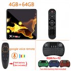 X99 Max+ Tv  Box S905x3 Chip Dual Frequency Wifi Uad Core 4gb Ram 32gb 64gb Wifismart Tv Box 4+64G_Au plug+G10S+I8 Keyboard