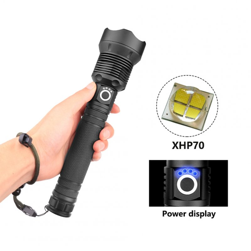 XHP70 Zoomable Focus LED Flashlight