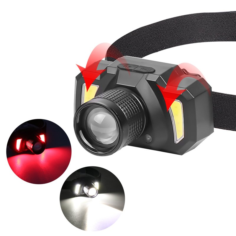 XPE+COB LED Headlamp Motion Sensor Head Lamp Built-in Battery Light Torch Model 2047