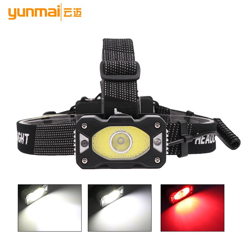 XPG+COB LED Headlamp Intelligent Induction USB Charging Bright Torch Headlight + USB cable