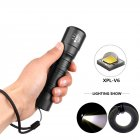 XPL-V6 LED High Power Flashlight Torch Zoomable Linterna LED Flashlight  White light 6500K
