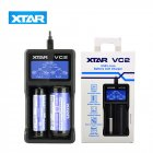XTAR VC2 USB Li-ion Battery LCD Charger for 3.7V 10440 18650 26650 Batteries black