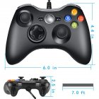 Xbox 360 Controller Compatible with Microsoft Slim/Windows/PC Black White Available Black