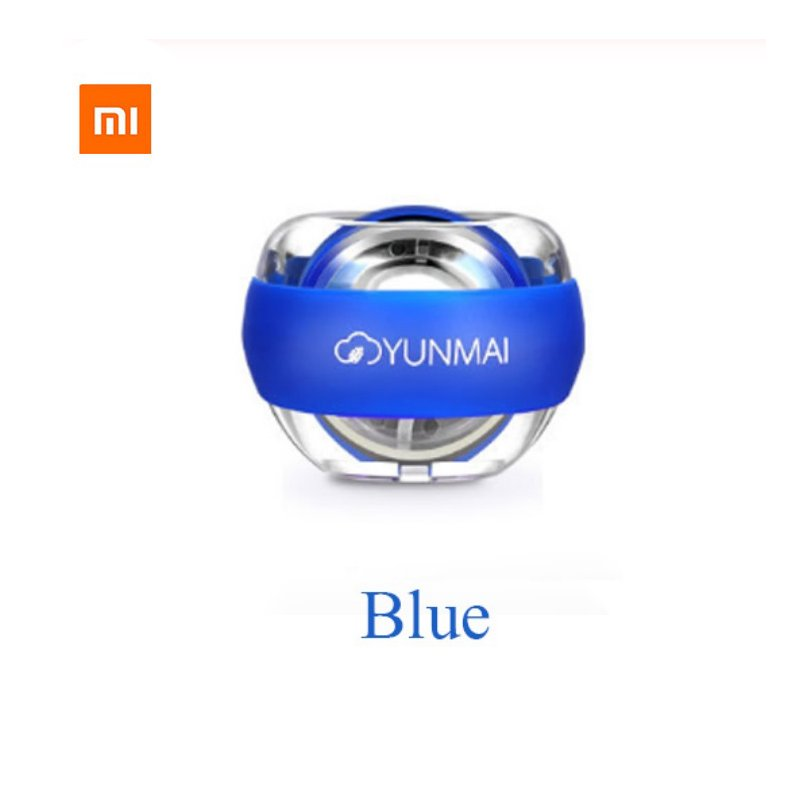 Xiaomi Mijia Wrist Trainer LED Gyroball Essential Spinner Gyroscopic Forearm Exerciser Gyro Ball blue