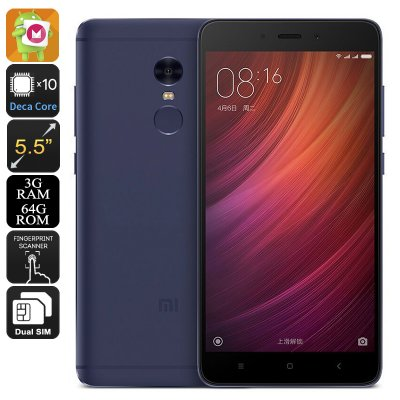 Xiaomi Redmi Note 4 Android Phone (Blue)