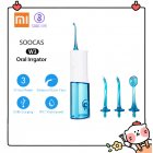 Original Xiaomi Youpin SOOCAS W3 Oral Irrigator Portable Water Dental Flosser Water Jet Cleaning Tooth Denture Cleaner Teeth Brush Blue
