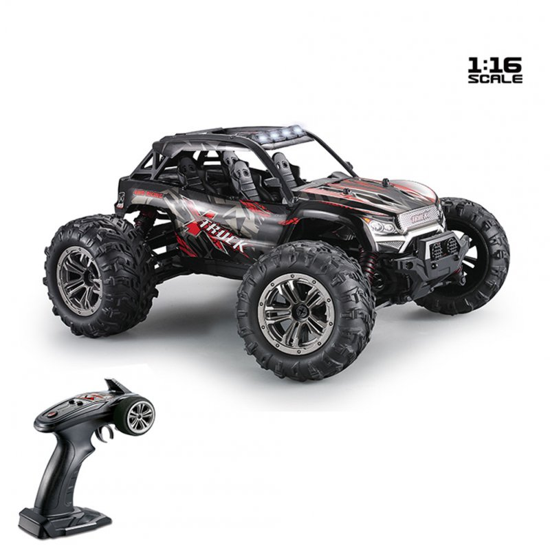 Xinlehong 9137 1/16 2.4G 4WD 36km/h RC Car W/ LED Light Desert Off-Road High Class Truck RTR Toy red