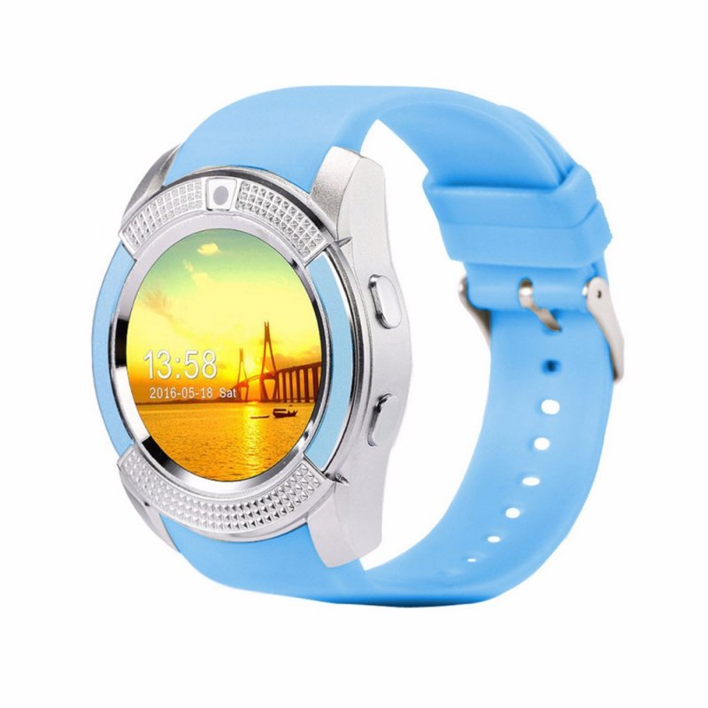 Y1 Bluetooth Smart Watch With Touch Screen Camera / SIM Card Slot Waterproof Smart Watch blue