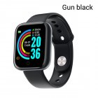 Y68 Smart Watch Waterproof Bluetooth Sport SmartWatch Support for iPhone Xiaomi Fitness Tracker Heart Rate Monitor Built-in 150mAh Battery USB Charging Gun black