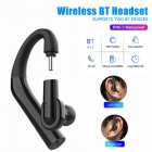 Y9 Wireless Bluetooth Headset 360° Rotatable IP67 Waterproof Earphone Car Driver Earbud black