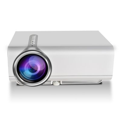 YG520 Mini LED Projector 1080P HDMI USB AV SD Snyc Display with Smartphone Home Theater  white_EU Plug