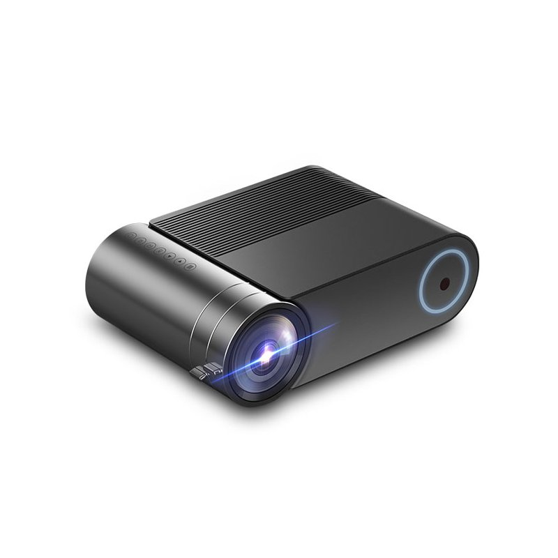 YG550 Portable LED Mini Projector Photography Camera Home Video 720P Recorder Comcorder Multifunction Home Projector  black_regular version
