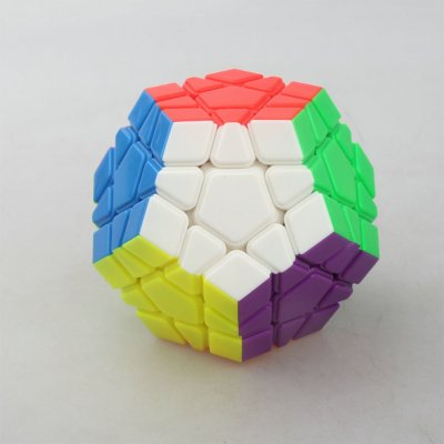 YJ RUIHU Megaminx Magic Cube Colorful 12 Facets Speed Puzzle Cubes Kids Toys Educational Intelligence Toy color